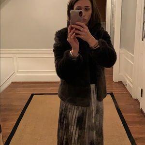 Zara faux fur dark brown coat